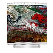 Abstract Number 32 Shower Curtain