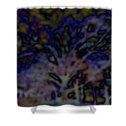 Abstract Of A Tree Shower Curtain