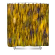 Abstract Of Autumn Gold Shower Curtain