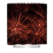 Abstract Of Fireworks On Black Shower Curtain