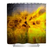 Abstract Of Sunflowers Shower Curtain