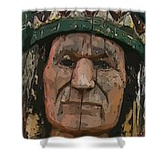 Abstract Of Wooden Indian Head Shower Curtain