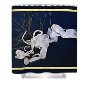 Abstract On-distress Shower Curtain