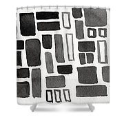 Abstract Open Windows Shower Curtain