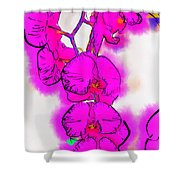 Abstract Orchid 1 Shower Curtain