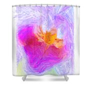 Abstract Orchid Pastel Shower Curtain by Antony McAulay