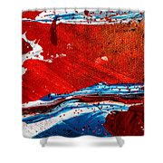 Abstract Original Artwork One Hundred Phoenixes Untitled Number Three Shower Curtain