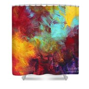 Abstract Original Painting Colorful Vivid Art Colors Of Glory II By Megan Duncanson Shower Curtain