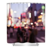 Abstract Out-of-focus City Scenery With Colorful Lights Shower Curtain