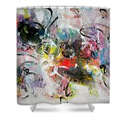 Abstract Painting Colourful Art Shower Curtain