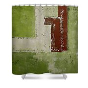 Abstract Painting Green 13013 Shower Curtain