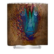 Abstract Path Shower Curtain