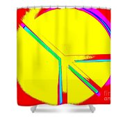 Abstract Peace Shower Curtain