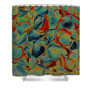 Abstract Rose Petals Shower Curtain