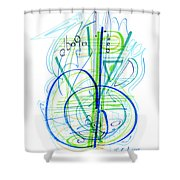 Abstract Pen Drawing Fifty-eight Shower Curtain