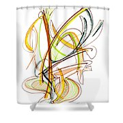 Abstract Pen Drawing Fifty-nine Shower Curtain