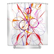 Abstract Pen Drawing Fifty-one Shower Curtain