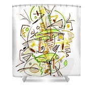 Abstract Pen Drawing Fifty-seven Shower Curtain