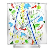 Abstract Pen Drawing Fifty-three Shower Curtain