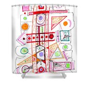 Abstract Pen Drawing Fifty-two Shower Curtain