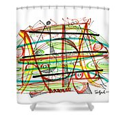 Abstract Pen Drawing Forty-seven Shower Curtain