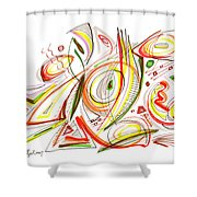 Abstract Pen Drawing Forty-six Shower Curtain