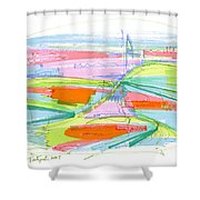 Abstract Pen Drawing Forty-three Shower Curtain
