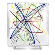 Abstract Pen Drawing Seventy-five Shower Curtain
