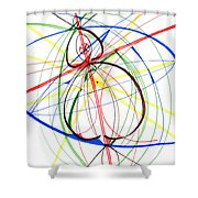 Abstract Pen Drawing Seventy-four Shower Curtain