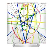 Abstract Pen Drawing Seventy-three Shower Curtain