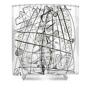 Abstract Pen Drawing Sixty-eight Shower Curtain