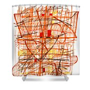 Abstract Pen Drawing Sixty-one Shower Curtain
