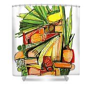 Abstract Pen Drawing Sixty-two Shower Curtain