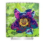 Abstract Peonies Shower Curtain