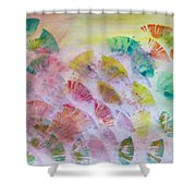 Abstract Petals Shower Curtain