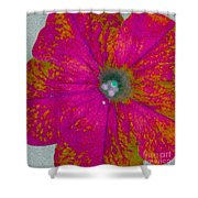 Abstract Petunia Shower Curtain