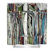 Abstract Piano Keys Shower Curtain