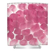 Abstract Pink Dots Shower Curtain