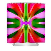 Abstract Pink Tree Symmetry Shower Curtain by Amy Vangsgard