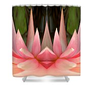 Abstract Pink Water Lily Shower Curtain