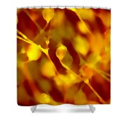Abstract Plants Shower Curtain