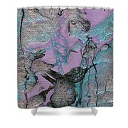 Abstract Pour 3 Shower Curtain