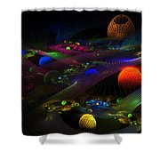 Abstract Psychedelic Fractal Art Shower Curtain