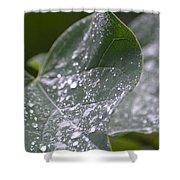 Abstract Rain Glitter Shower Curtain