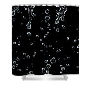 Abstract Raindrops Black And White Shower Curtain