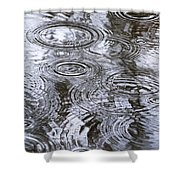 Abstract Raindrops Shower Curtain by Christina Rollo