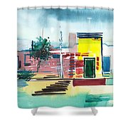 Abstract Reality Mix 1 Shower Curtain