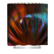 Abstract Red And Green Blur Shower Curtain