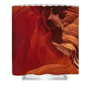 Abstract Red Sandstone Formations Lower Antelope Slot Shower Curtain