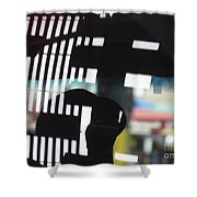 Abstract Reflection 18 Shower Curtain by Sarah Loft